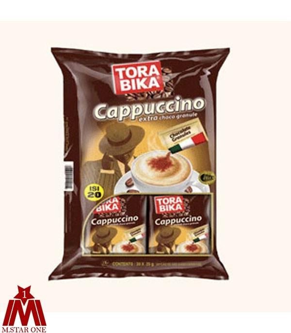 ترابیکا کاپوچینو آماده همراه با بسته پودر شکلات 20 عددی