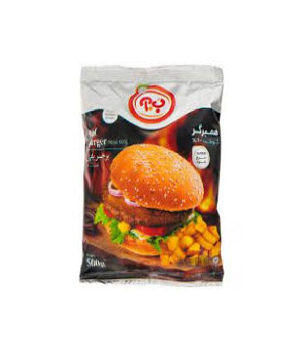 همبرگر 500 گرمي گوشت 30% ب.آ
