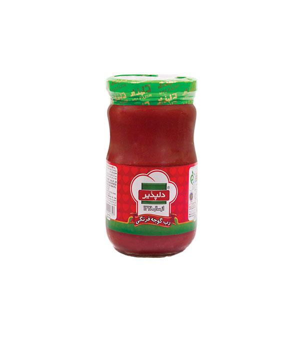رب گوجه فرنگي شيشه اي 680 گرمي دلپذير