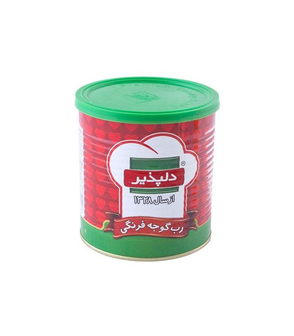 رب گوجه فرنگي قوطي 400 گرمي دلپذير